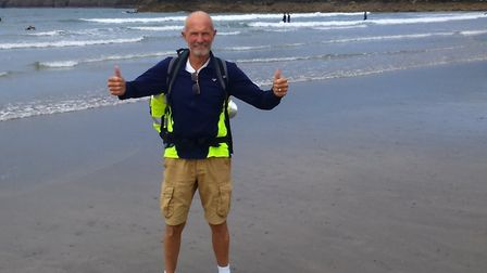 Brian Edwards, known as Eddy, completed 360 miles for charity in 11 days, after being told he might