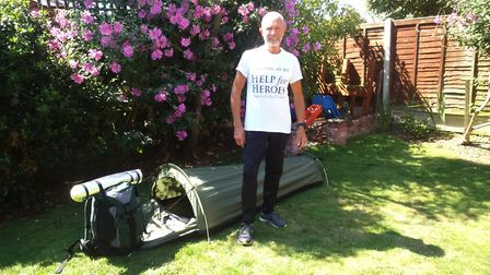 68-year-old Brian Edwards set out on a 360 mile hiking challenge for the Help For Heroes charity. Pi