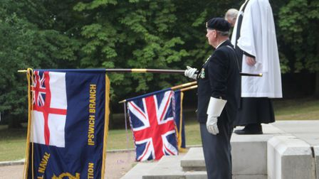 A short service was held at Christchurch Park in Ipswich for the VJ Day commemorations. Picture: IPS