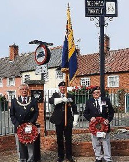 (L to R) Councillor Steve Philips, Mayor of Needham Market, Jim Darrah Chairman of NM Branch of the