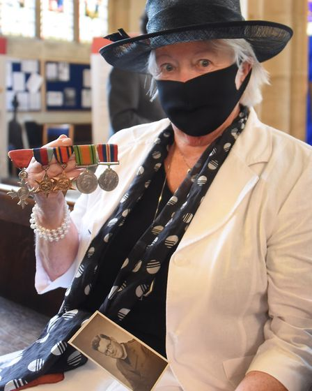 Ann Howard at the County of Suffolk VJ Service of Remembrance at St Mary's Church, Bury St Edmunds,
