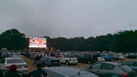 Hundreds of cars packed in to watch the action at Contenders 30: Drive-In Picture: CONTENDERS