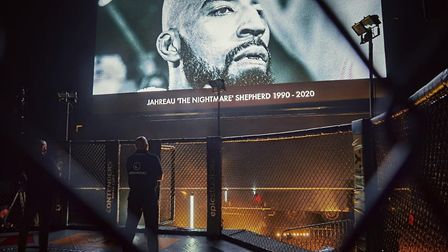 Contenders paid a touching tribute to their welterweight champion Jahreau Shepherd, who was killed i
