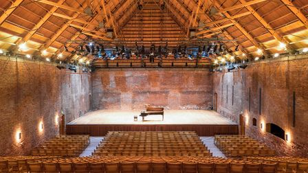 Snape Maltings Concert Hall is ready to stage live music again Picture: MATT JOLLY