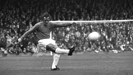 Irish full-back Tommy Carroll in action for Ipswich against WBA in October 1970. The former Town sta