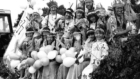 A Red Indians themed float in the the 1981 Bury Carnival Picture: ARCHANT