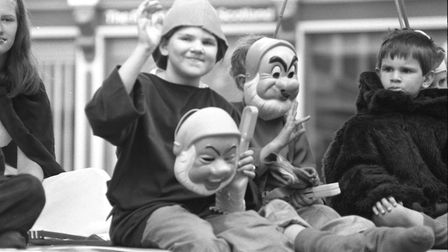 Children on the parade, dressed as Disney dwarves at Bury Carnival in 1993 Picture: ARCHANT
