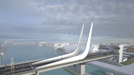 Visualisations of the Lake Lothing Third Crossing in Lowestoft. Picture: SUFFOLK COUNTY COUNCIL