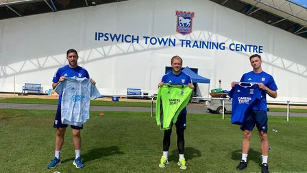 Ipswich Town have signed, from left, left back Stephen Ward, keeper David Cornell and striker Oli Ha
