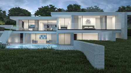 Three-dimensional renders of the property designed by Modece Architects for a plot in Little Bealing