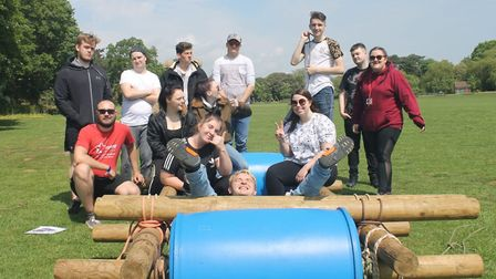 Inspire Suffolk has restarted its Prince's Trust Team Programme. Pictured is a previous year's group
