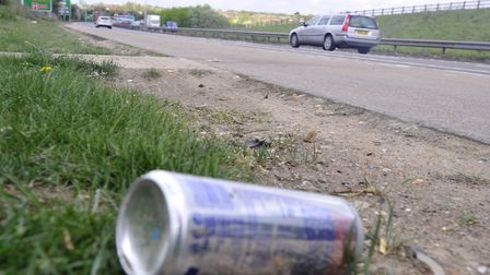 Litter on the A12 near the Copdock roundabout. Picture: ARCHANT LIBRARY