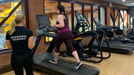 Exercising taking place in the newly extended gym at Kingfisher Leisure Centre Picture: ABBEYCROFT L