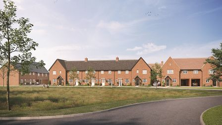 CGI image of what the new Chilton Place development in Sudbury will look like. Picture: ANDERSON GRO