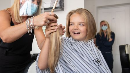 Reilly Stancombe has his first ever haircut at Masters & Misters barbers in Clacton-on-Sea Picture