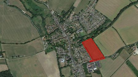 A plot of land in Bildeston has been put on the market after a sale agreement collapsed. Picture: GO