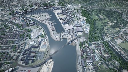 The Upper Orwell Crossings project for Ipswich had to be scrapped when costs soared by �43m. Pictur
