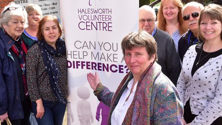 Volunteers and staff celebrate Halesworth Volunteer Centre's 30th anniversary in 2017. Picture: NICK