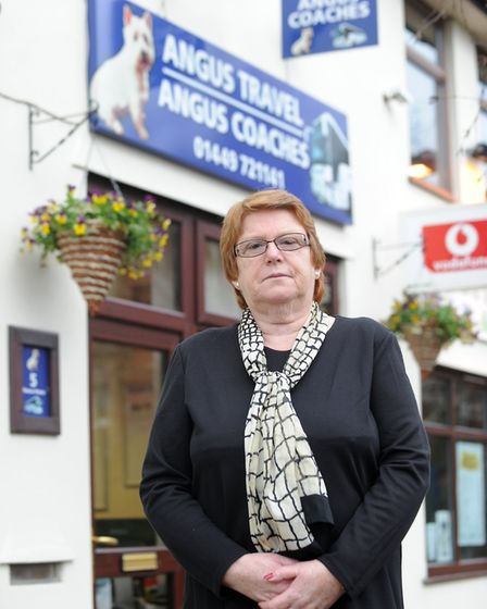 Avril Read, owner of Angus Travel in Needham Market, said she was heartbroken to be closing the busi