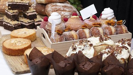 Cakes, pastries and bread from the Little Pig Bakery at Alder Carr Farm Picture; Harry Engles