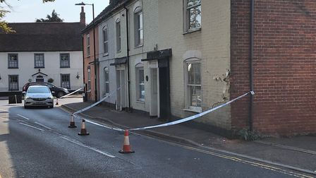 Essex Police closed the B1033 after a lorry hit a house on the road this afternoon. Picture: NATALI