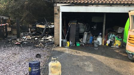 The fire is thought to have started after a rag soaked in linseed oil self-combusted in the swelteri