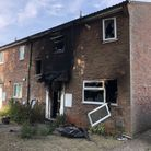Firefighters said the Gainsborough Road house was well alight when they arrived. Picture: MARK LANGF