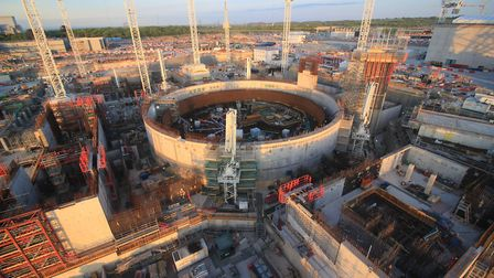 Sizewell C will look identical to Hinkley C, which is taking shape in Somerset Picture: EDF