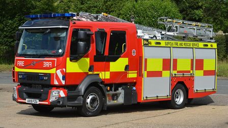 Suffolk Fire and Rescue Service are currently at the scene of a reported forest fire in Sutton Heath
