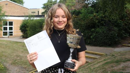 County Upper School student Scarlett Cutting who achieved three A grades and the school's debating a