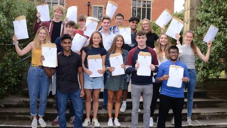Students at Colchester Royal Grammar School will be receiving their A-Level results today, like thes