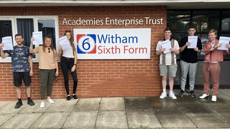Witham Sixth Form, was one of many schools receiving its A-Level results today. Picture: WITHAM SIXT