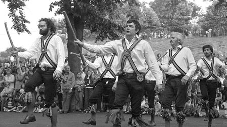 Morris ring meeting at Castle Park Colchester from July 1977 Picture: ARCHANT