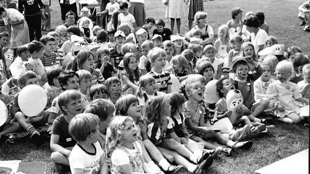 A sea of faces enjoying the entertainment at the Colchester Castle Park fun day. in 1984 Picture: AR