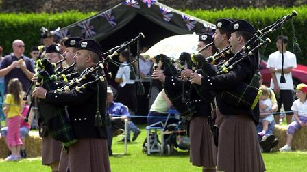One of the many bands competeing in the Scottish day held in Colchester Castle park. Picture: CLIFFO