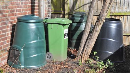 Compost bins can help turn food waste into useful nutrients for the garden. Picture: SIMON FINLAY.