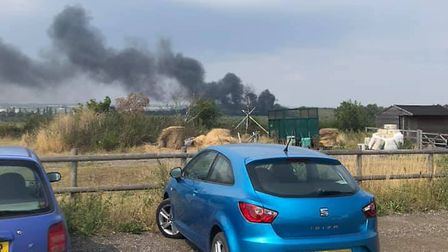 Fire crews are currently attending the fire in Parkeston Picture: CHRISTIAN JONES
