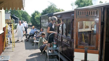 Rose Weller is leading the restoration of the old carriages. Picture: PAUL GEATER