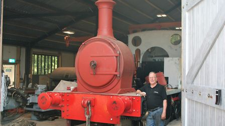Steve Grayston is a key part of the team restoring the Middy's own steam locomotive. Picture: PAUL G