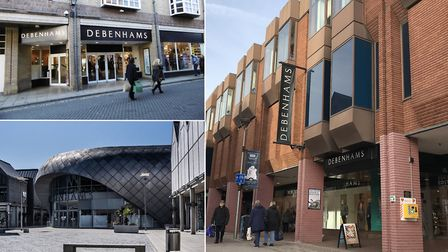 Debenhams are making job cuts across their Ipswich, Colchester and Bury St Edmunds stores. Picture: