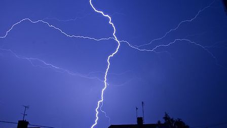 As the long weekend of storms hits, thunder and lightning are expected in areas of Suffolk today as