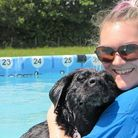A happy owner and her dog enjoy a cooling dip Picture: Canine Dip and Dive