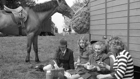 Grabbing a bite to eat at the South Suffolk Show in May 1976. Do you recognise anyone? Picture: AR