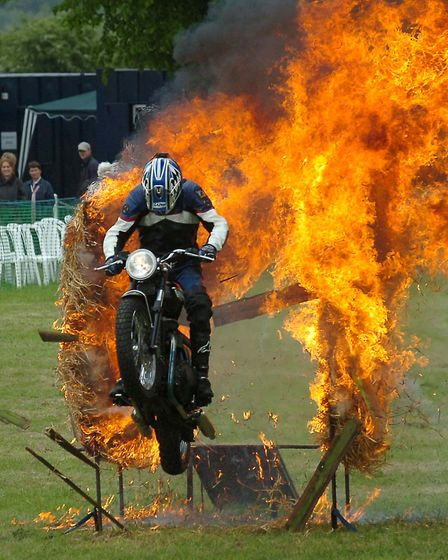 Fireblaze Fiddes in action at the South Suffolk Show in 2006 Picture: PHIL MORLEY