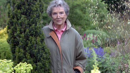 Beth Chatto in her garden in 2005 before her death in 2018 Picture: James Fletcher