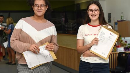 Katie Kane and Katie Allen were pleased with their results Picture: CHARLOTTE BOND