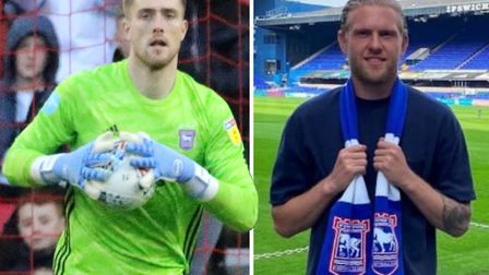 Tomas Holy and David Cornell will battle it out to be Ipswich Town No.1 this season. Picture: ROSSHA