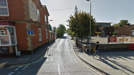 The cars were all damaged while parked in Prentice Road, Stowmarket. Picture: GOOGLE MAPS
