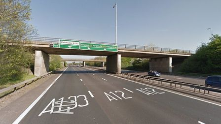 The A12 has been shut in both directions after a serious crash at Marks Tey. Picture: GOOGLE MAPS