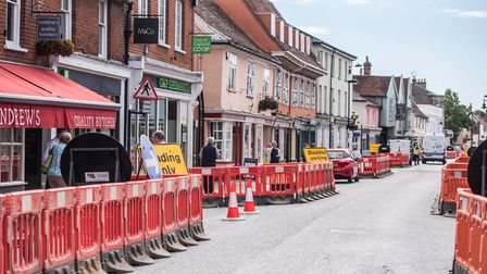 The unsightly barriers will be removed from Hadeigh High Street Picture: SARAH LUCY BROWN